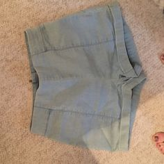Urban Outfitters High Waisted Shorts Light Wash Adorable sailor style high waisted shorts. In a stretchy cotton with a back zipper. Only worn a few times. Size 2! Cooperative Shorts Jean Shorts