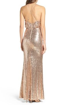 Lulus Stry Sequin Blouson Gown Available At Nordstrom Bridesmaid Dresses Pinterest Sequins And Gowns