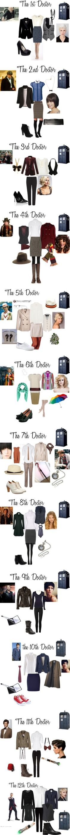 The 12 Doctors by nchavez113 on Polyvore featuring Denham, Ted Baker, Sally Phillips, G by Guess, Phase Eight, Plush, Aubin & Wills, Etro, Seychelles and Wallis