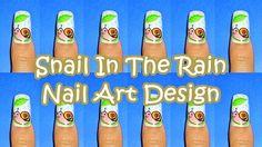 ~Snail In The Rain Nail Art Design  by KawaiiNailArt from Nail Art Gallery~