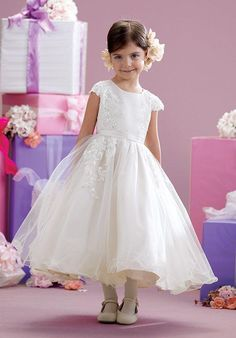 Joan Calabrese by Mon Cheri 215347 Flower Girl Dress - The Knot