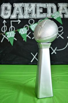Diy Superbowl Lombardi Trophy Dominic 15th Birthday Party Pinterest Lombardi Trophy Bowls