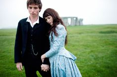 Eddie Redmayne and Gemma Arterton promo shoot (I guess) for Tess of the D'Ubervilles (I guess).