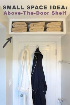 Life Hacks For Living Large In Small Spaces Towel Rod Tiny - Large towel storage for small bathroom ideas