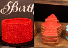 Sound the alarm because we are about to set Sweet Designs on fire! Amanda from Red Wagon Events was asked by her client to create a vintage fire engine theme for her two children (a boy and girl) that were turning one and three. Amanda set up a dessert table and a thirsty firefighter drink …