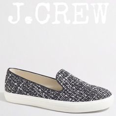 J.CREW Tweed Slip-On Loafers Sneakers Sz 9 NIB J.CREW Tweed Slip-On Loafer Sneakers Size 9 NIB~Firm unless Bundled🚫NO TRADE🚫 J. Crew Shoes Flats & Loafers