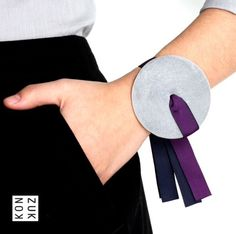 Discus Concrete Bracelet by Konzuk