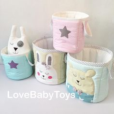 Доброе утро☺️ Наши корзиночки для игрушек готовы Сегодня будем фотографировать их для сайта Корзиночки отшиты для всех наших коллекций Большие с зайкой и мишкой по 2500р, маленькие со звездочками по 1500р. LoveBabyToys®