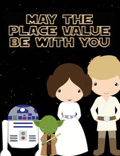 Star Wars Place Value {Games, technology, printables, craftivity, CCSS} Contents:Pages 2-3: Thank you and Teacher Guide  Pages 4-8: I can posters that cover CCSS standards NBT. 1, NBT.2, NBT.2a, NBT.2b, NBT.2C  Pages 9-36: Place value cards for various activities. Recording sheet for number hunt (detailed explanation in packet).