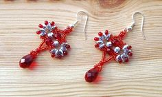 Free pattern for earrings Lola with super duo or twin beads   Beads Magic