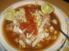 Authentic Mexican Red Pozole, Posole Rojo Mexicano Autentico