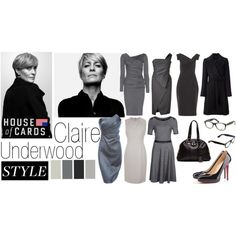 Claire Underwoods 'House Of Cards' Style Inspiration by farahskndr on Polyvore featuring Diane Von Furstenberg, J. Mendel, Burberry, Donna Karan, Christian Louboutin, Yves Saint Laurent and Black Halo