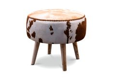 Decorating with animal hide furniture introduces an element of exotic luxury, providing warmth, texture and pattern. Whether your decor is Western chic, Spanish Revival or African safari, the Alexa Stool makes the statement to anchor your room. Less is more when it comes to hides.
