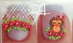 Lace Nails, Girls Nails, Nail Arts, Make Up, Pedicures, Easy Nail Art, Nail Stickers, Jewel Nails, Art Nails