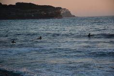 Surfers at Bronte Beach
