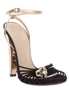 4c699d5d65b Gucci Metallic Detail Sandal in Gold (black)
