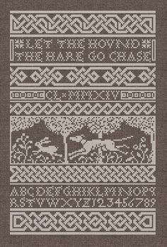 The Hound & The Hare CrossStitch Pattern Instant by modernfolk
