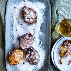 These tangy lemon custard fritters from our July issue are just the ticket on a wintry day.  Recipe: @emmatknowles. Photography: @wmeppem. Styling: @lucytweedstylist
