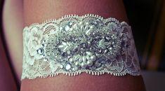 DIY☩ Rhinestone Wedding Garter