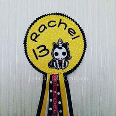 Handmade In Hatfield - Hertfordshire   Unicorn Birthday Badge Rosette Celebration Birthday Party Gift