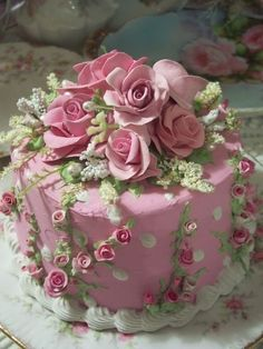 Pretty Shabby Chic Cake for a Tea Party :) by Jessica Huth