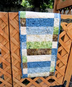 Quilted Table Runner Table Runner Batik by HandledWithCareMary