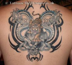 Tattoo+Of+Dragons+Skull+And+Tiger