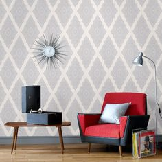 Jewel Wallpaper by Julien MacDonald - Gray Geometric Wall Coverings by Graham  Brown