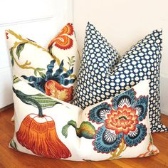 Schumacher Hot House flower. At $89 per pillow, makes me wish I had a sewing machine so I could order my own fabric