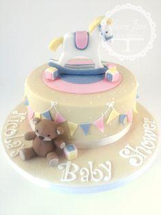 Rocking Horse Baby Shower - by LauraJaneCakeDesign @ CakesDecor.com - cake decorating website