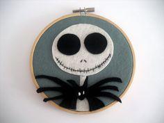 The Nightmare Before Christmas Jack Skellington Embroidery Hoop.