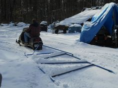 Homemade Trail Groomer pulled behind snowmobile. Welding Ideas, Welding Projects, Home Projects, Tools And Toys, Motorcycle Shop, Shop Storage, Snowmobiles, Cross Country Skiing, Sled