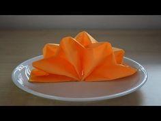 Servietten falten: 'Segelschiff' für Hochzeit + Geburtstag [W+] - YouTube