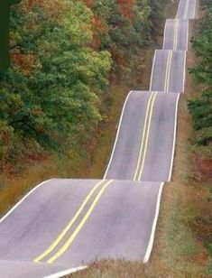 Roller Coaster Highway, Oklahoma    For more interesting pictures, join: Mum he started it