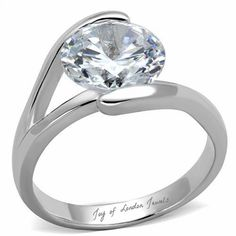 4.4CT Perfect Solitaire Cut Russian Lab Diamond Promise Engagement Ann – Joy Of London Jewels