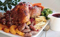 Vánoční+krůta+–+britské+královské+dědictví Yami Yami, Pot Roast, Turkey, Menu, Ethnic Recipes, Food, Carne Asada, Menu Board Design, Roast Beef