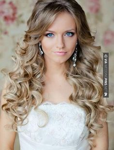 So good! - simple curly wedding hairstyle   CHECK OUT MORE IDEAS AT WEDDINGPINS.NET   #weddings #hair #weddinghair #weddinghairstyles #hairstyles #events #forweddings #iloveweddings #romance #beauty #planners #fashion #weddingphotos #weddingpictures