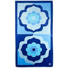 blue madeleine beach towel from Jonathan Adler