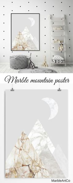 Do you like calm colors and minimalism? This abstract mountain landscape art print with marble textures will become a versatile wall decoration for your living room or bedroom. The modern collage (not an illustration) shows the beauty of natural stones and the variety of natural forms. Check out on MarbleArtCo | Office Wall Art Nordic Art Minimalist Poster Contemporary Art Marble Minimalist Decor Nature Landscape Art Scandinavian Prints Gray Abstract Art Large Framed Art Prints