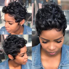 Dope Hairstyles, Cute Hairstyles For Short Hair, My Hairstyle, Black Girls Hairstyles, Curly Hair Styles, Natural Hair Styles, Hairstyles Videos, School Hairstyles, Fringe Hairstyles