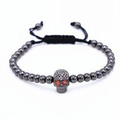 18kt Zircon Skull Rhinestone Bracelet (2 colors)