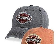 9549b46a4ee Frayed Bar   Shield Logo Baseball Cap - 100% pigment-dyed cotton twill. Harley  Davidson ...