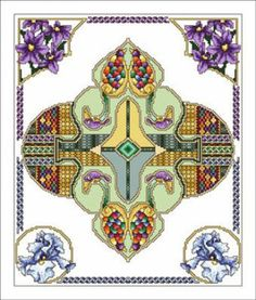 Celtic May is the title of this cross stitch pattern from the Vickery Collection and is part of a series of celtic month designs.