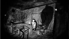 URSUS by Atom Art. A charcoal on paper animation about a motorcycling circus bear who decides to leave the daily routine and takes off to the forest where his true happiness seems to dwell.