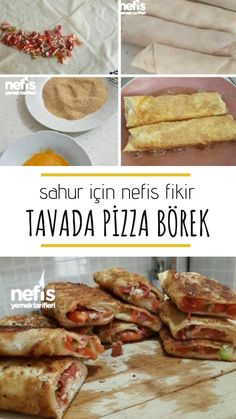 The Most Practical Most Fabulous Pizza Burrito (The Most Excellent Breakfast) - Yummy Recipes - Pizza Recipes Best Breakfast, Breakfast Recipes, Pizza Pastry, Wie Macht Man, Ramadan Recipes, Sweet Pastries, Good Pizza, Turkish Recipes, Dibujo