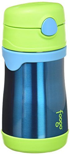 Thermos FOOGO Vacuum Insulated Stainless Steel 10Ounce Straw Bottle BlueGreen * Find out more about the great product at the image link.Note:It is affiliate link to Amazon.