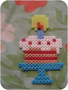 Binemor: Birthday cake hama beads
