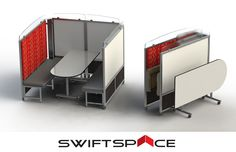 Rendezvous workstations can be customized to include whiteboard inserts and fold up with ease to utilize work space in your office.