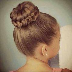 ballerina bun with wrap around braid <3