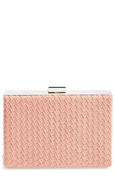 c0cfb83e4 Natasha Couture Woven Box Clutch available at #Nordstrom Pink Wedding  Colors, Couture Bags,